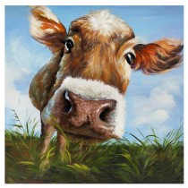 """Hello"" Cow Wall Art"