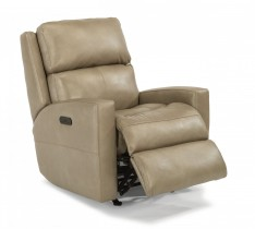 Catalina Leather Power Rocking Recliner w/Power Headrest