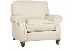 "Small Fabric Swivel Gliding ""One"" Chair"