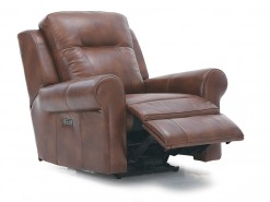 Vega Leather Power Recliner W/Power Headrest