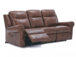 Vega Leather Power Reclining Sofa W/Power Headrest