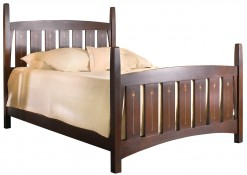 Harvey Ellis Queen Bed - Cherry