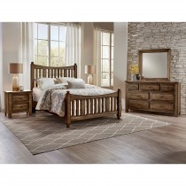 Artisan & Post Maple Road King Slat Poster Bed