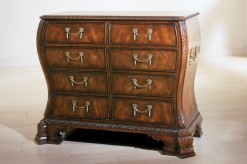 Frets and Coronets Mahogany Bombay Chest of Drawers
