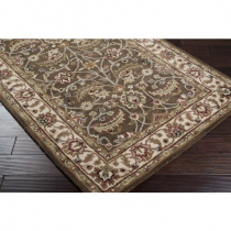 Caesar Collection Dark Brown, Sage & Red 5' x 8' Rug