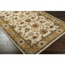 Caesar Collection Khaki, Tan & Dark Brown  5' x 8' Rug