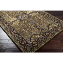 Caesar Olive, Dark Brown & Sage Rug