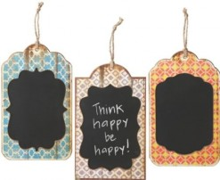 Pattern Chalkboard with Jute Hanger*
