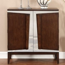 Two Door Bar Cabinet in Brown