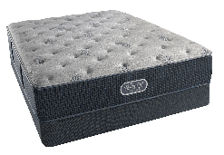 Beautyrest Comfort Gray Plush Queen Mattress Set