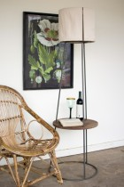 Side Table Floor Lamp