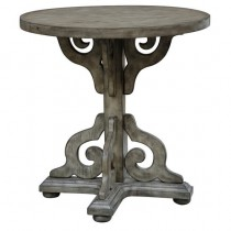 York Sandstone Scroll Accent Table