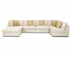 Melrose Place Sectional w/Ottoman