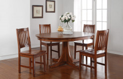 "66"" Round Pedestal Table w/18"" Leaf"