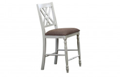 "24"" Double X Back Cushioned Barstool"