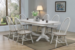 "Ridgewood 96"" Trestle Table with 6 Windsor Back Side Chairs"