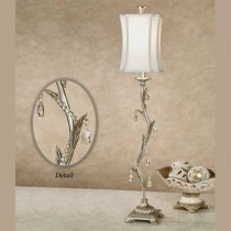 Silver Acrylic Bead Table Lamp