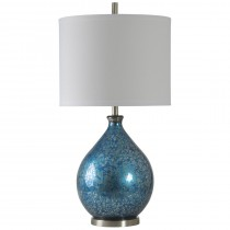 Elvis Blue Mercury Glass Lamp