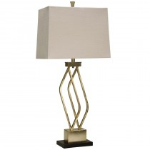 Imperial Silver Metal Base Table Lamp