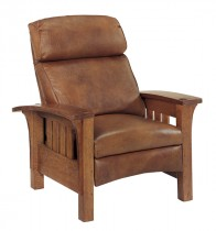 Mission Bustle Back Bow Arm Morris Recliner