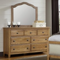 Artisan Choices Loft Triple Dresser & Tall Mirror
