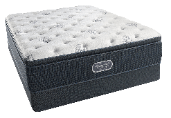 Beautyrest Offshore Mist Plush Pillowtop Queen Mattress Set