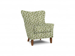 Fabric Wing Chair