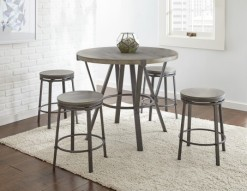 Portland Round Counter Table w/4 Round Stools