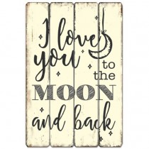 Moon And Back Wall Art