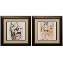 Pair of Framed Prints Under Glass