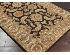 Crowne Collection Gold and Black 6' x 9' Rug*