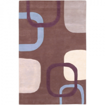 Stella Smith Collection Dark Brown Geometric 5' x 8 Rug*