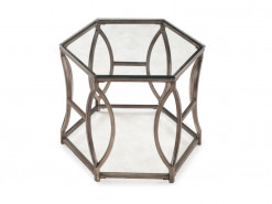 Nevelson Metal Hexagon End Table