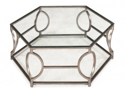 Nevelson Metal Hexagon Cocktail Table
