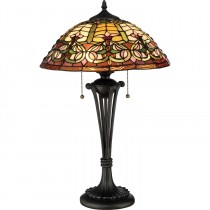 Tiffany Flowering Heart Table Lamp