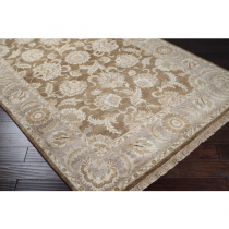 """Timeless Collection Dark Brown and Taupe 5'6"""" x 8'6"""" Rug*"""