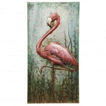 Metal Flamingo Wall Art