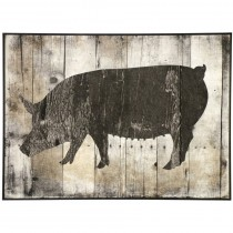 Pig Textured Framed Print
