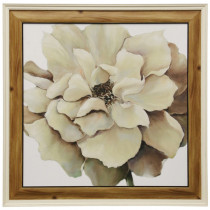 Textured Framed Flower Print