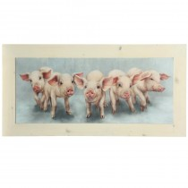 Pig Family Textured Framed Print