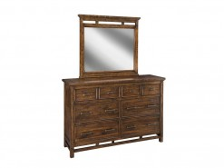 Wolf Creek 6 Drawer Dresser & Landscape Mirror