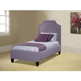 Clip Corner Upholstered Queen Bed W/Nails