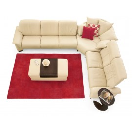 Paradise High & Low Back Leather Sectional