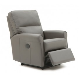 Pinecrest Leather Swivel Rocking Recliner