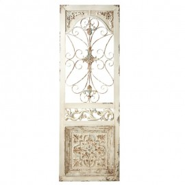 Distressed Ivory Scroll Door