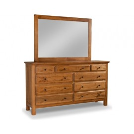 Lewiston 9-Drawer Double Dresser with Mirror