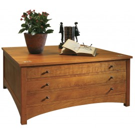 Harvey Ellis Storage Cocktail Table - Onondaga