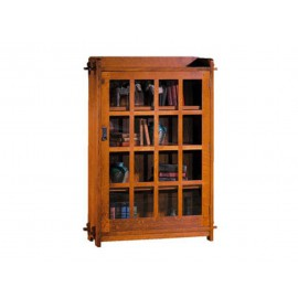 Stickley Home Office Single Bookcase With Glass Door