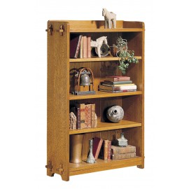 Single Open Book Case with Onondaga Finish