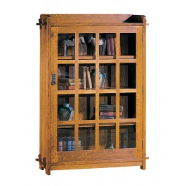 Single Book Case with Glass Door